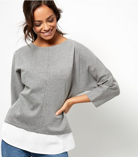 Grey 2 in 1 Zip Back Top  | New Look