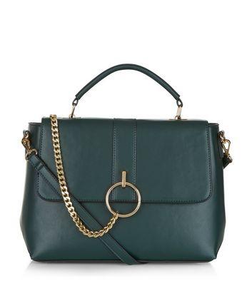 Dark Green Chain Satchel Bag