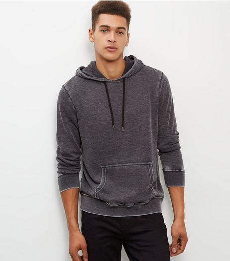 Grey Burnout Hoodie  | New Look