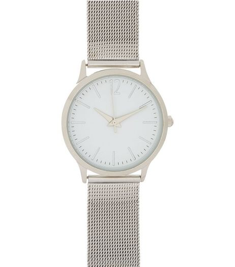 Silver Mesh Strap Watch | New Look