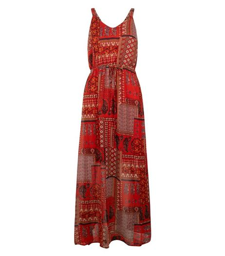 Blue Vanilla Orange Patchwork Maxi Dress | New Look