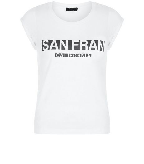 Petite White San Fran T-Shirt | New Look