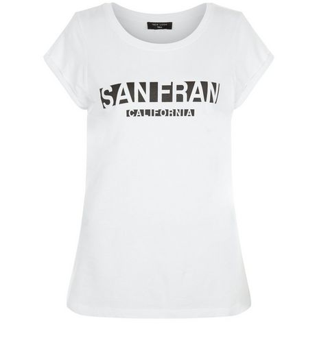 Tall White San Fran T-Shirt | New Look