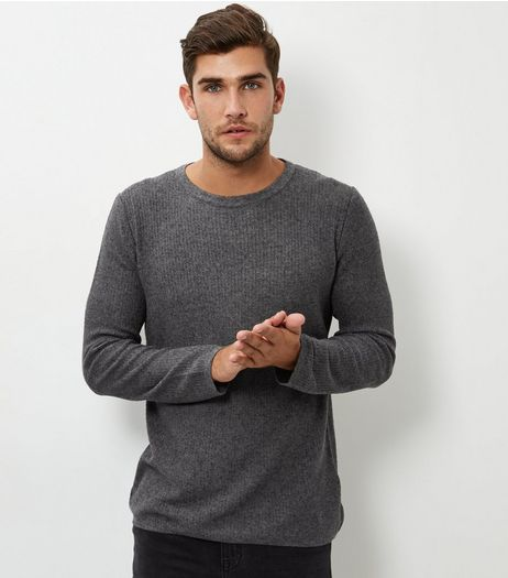 Grey Mesh Jumper | New Look