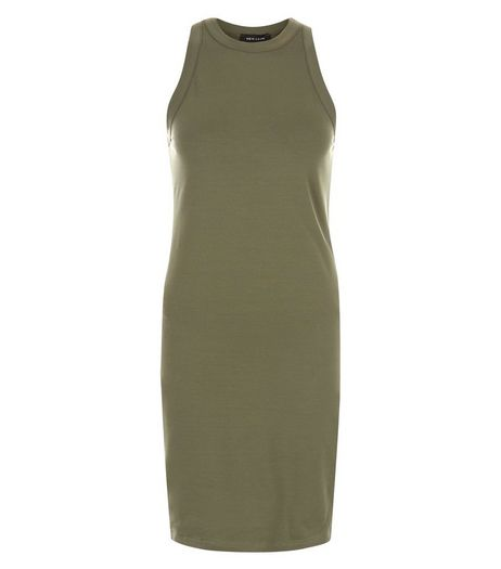 Khaki Sleeveless Bodycon Dress | New Look