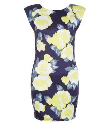 AX Paris Navy Floral Print Bodycon Dress