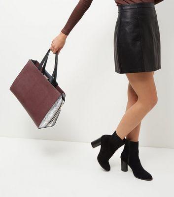 Burgundy Popper Tote Bag