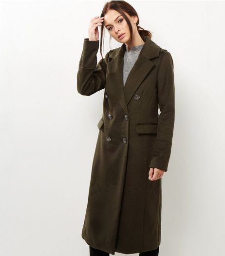 Khaki Military Maxi Coat | New Look
