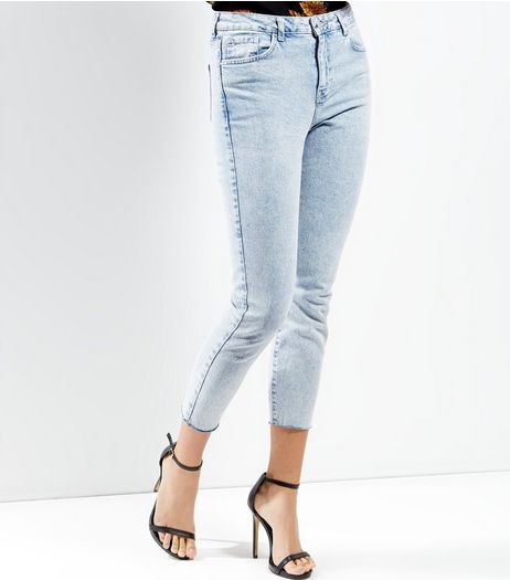 Light Blue Acid Wash Skinny Jeans  | New Look