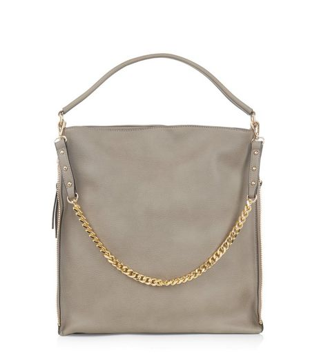 Grey Chain Strap Shoulder Bag | New Look