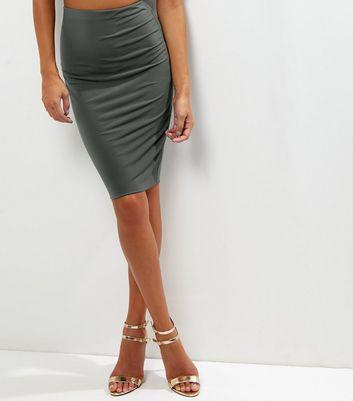 Gonna  donna Khaki Midi Skirt