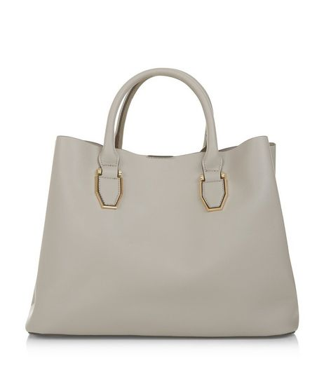 Grey Tote Bag | New Look