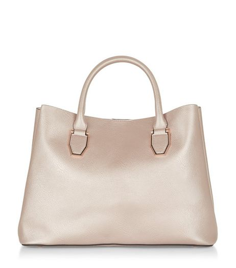 Rose Gold Metallic Soft Tote Bag | New Look