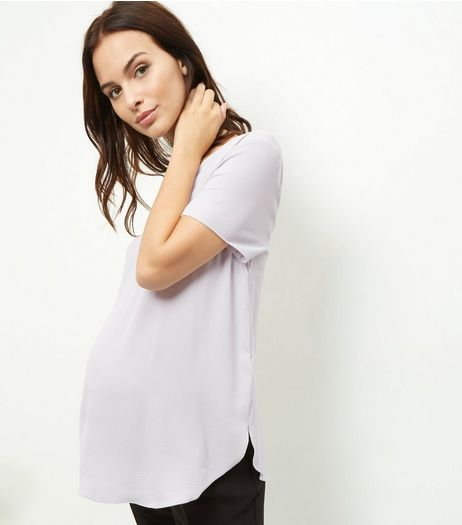 Maternity Light Grey V Neck Woven Top | New Look