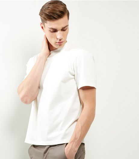 White Short Sleeve Boxy T-Shirt  | New Look