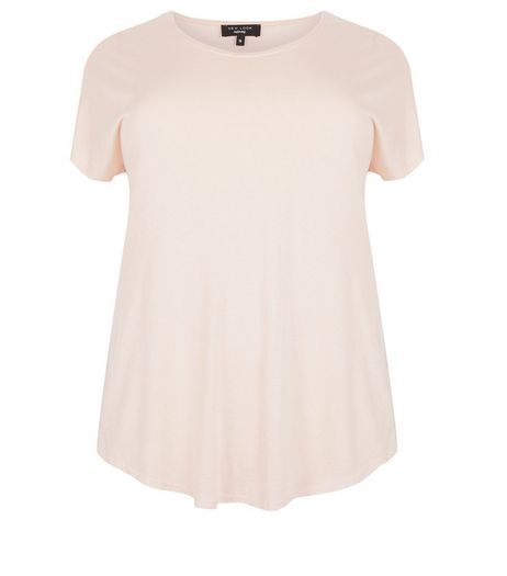 Curves Shell Pink T-Shirt | New Look