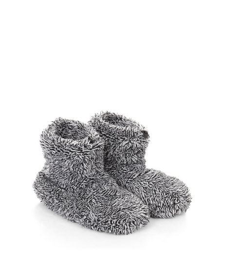 Grey Fleece Slipper Boot  | New Look