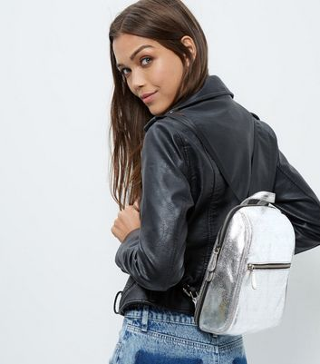 silver-leather-mini-backpack