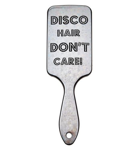 White Disco Hair Paddle Brush  | New Look