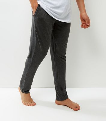 Product photo of Dark grey elasticated waist pajama bottoms