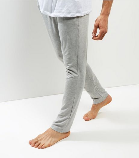 Light Grey Elasticated Waist Pajama Bottoms | New Look