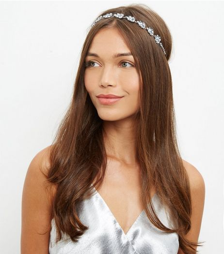 Crystal Elastic Headband  | New Look