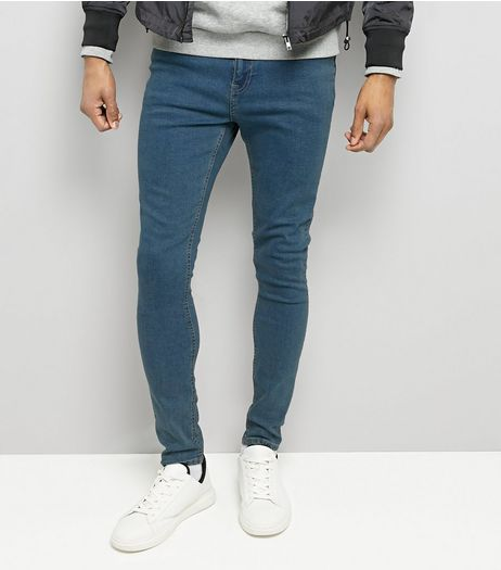 Blue Super Skinny Stretch Jeans | New Look