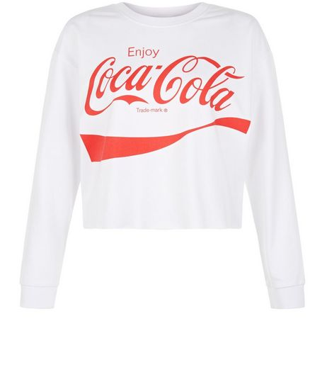 Teens White Coca-Cola Sweater | New Look