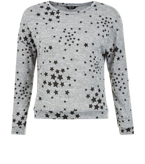 Teens Grey Star Print Sweater | New Look