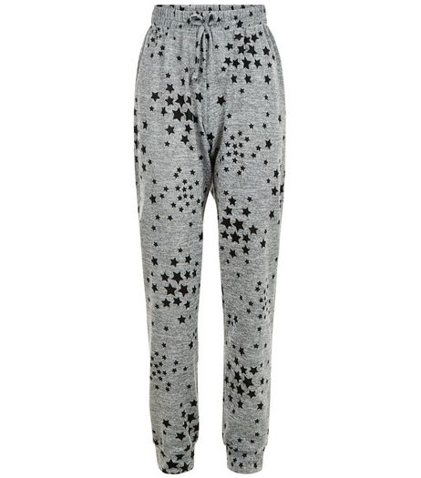 Teens Grey Star Print Joggers | New Look