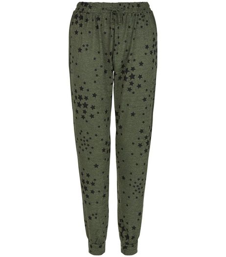 Teens Khaki Star Print Joggers | New Look