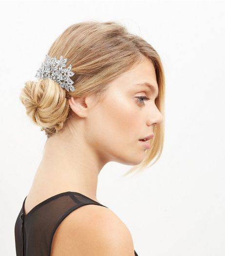 Crystal Oversized Floral Hair Slide  | New Look