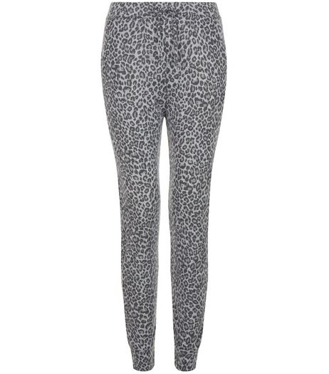 Teens Grey Animal Print Joggers | New Look