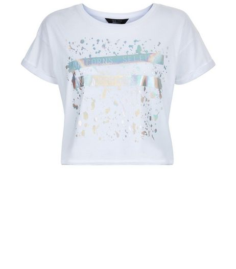 Teens White Mermaid Slogan T-Shirt | New Look