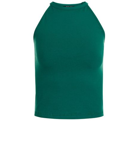 Teens Green High Neck Cami | New Look