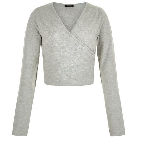 Teens Wrap Long Sleeve Top | New Look