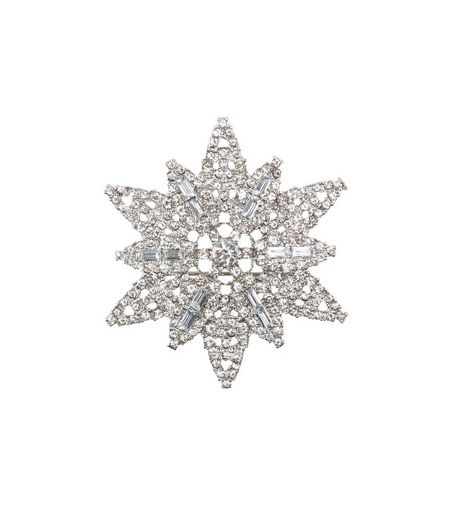 Cyrstal Diamante Star Brooch | New Look