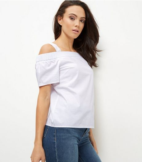Tall White Cold Shoulder Top | New Look