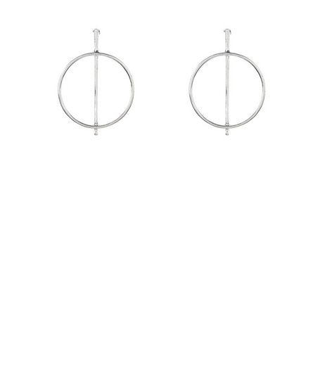 Silver Hoop and Stick Earrings | New Look