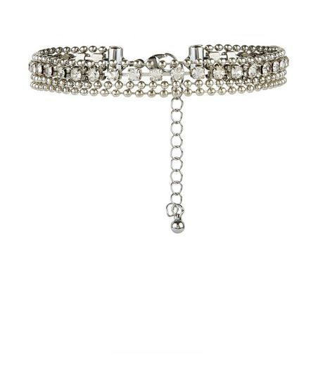 Silver Diamanté Layered Anklet | New Look