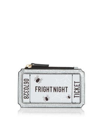 Black Fright Night Ticket Coin Purse