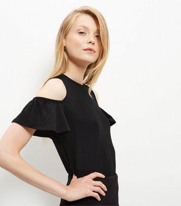 black-ruffle-cold-shoulder-t-shirt