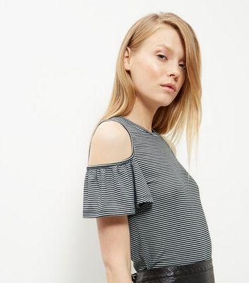 grey-ruffle-cold-shoulder-t-shirt