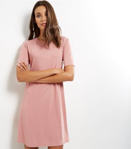 Shell Pink Short Sleeve Swing Dress | New Look