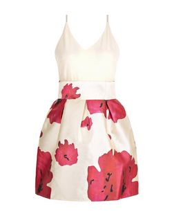 AX Paris Cream Floral Print 2 in 1 Dress | New Look