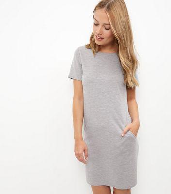 grey-double-pocket-tunic-dress