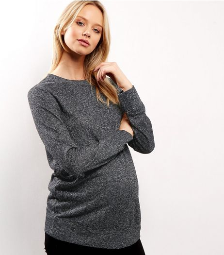 Maternity Silver Metallic Sweater | New Look