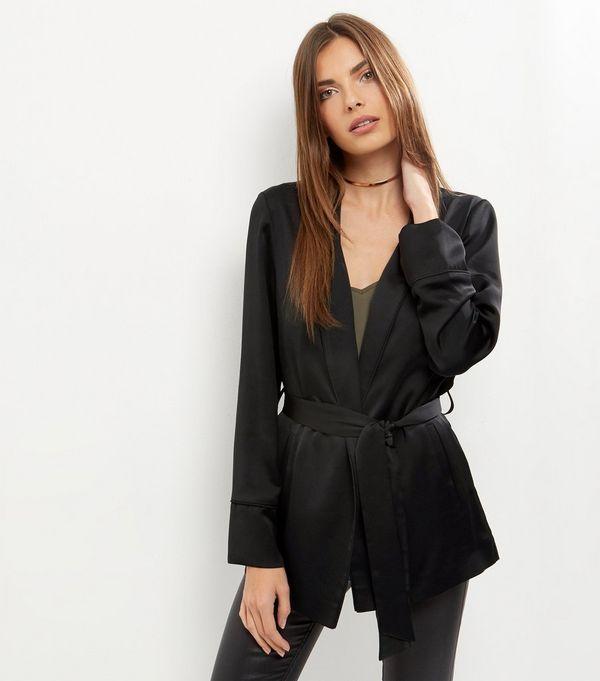 Black Tie Waist Blazer