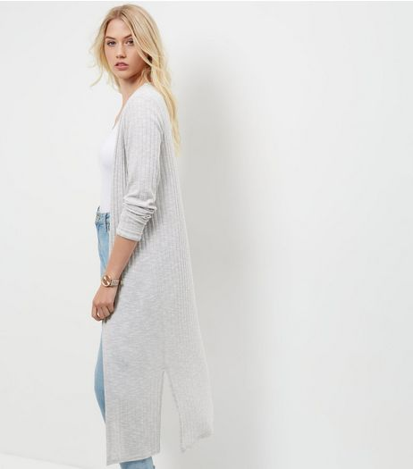Tall Grey Longline Cardigan | New Look