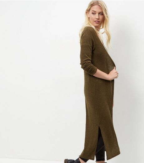 Tall Khaki Longline Cardigan | New Look